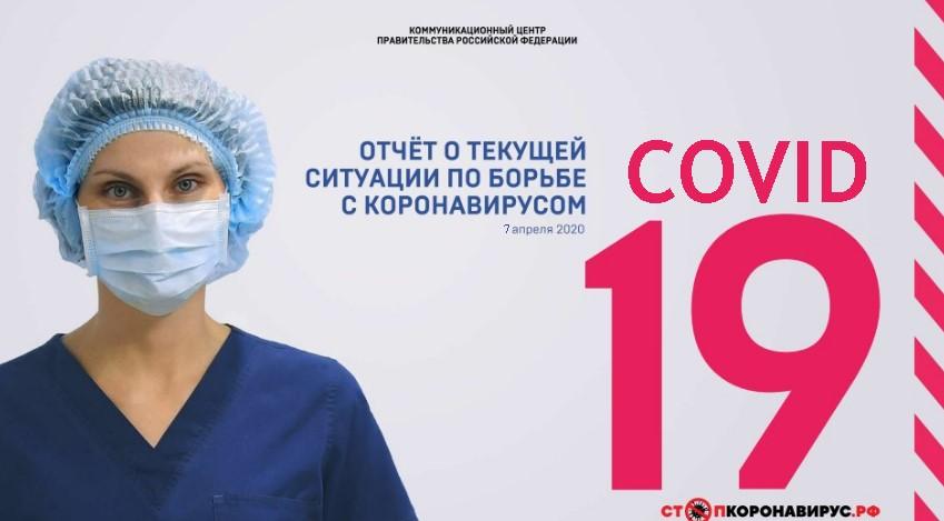 Отчет по текущей ситуации по борьбе с коронавирусом 7 апреля 2020 года
