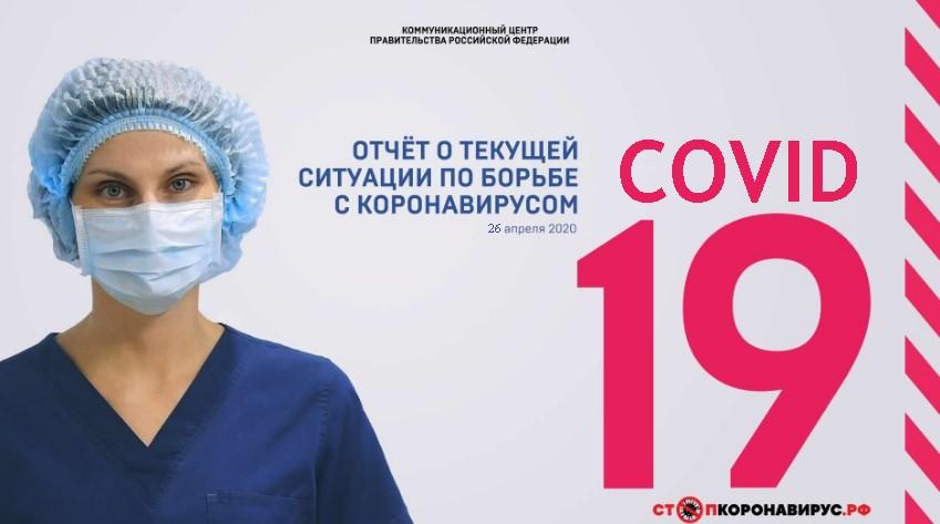 Отчет о текущей ситуации по борьбе с коронавирусом 24-26 апреля 2020 года